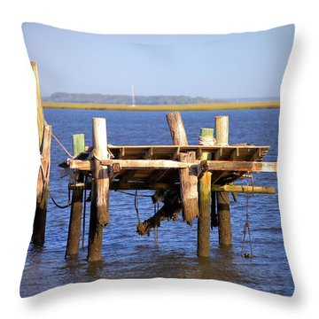 Throw Pillow featuring the photograph Remnants by Gordon Elwell
