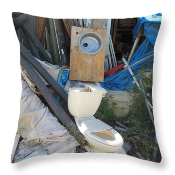Remnants Of A Life Throw Pillow by Esther Newman-Cohen