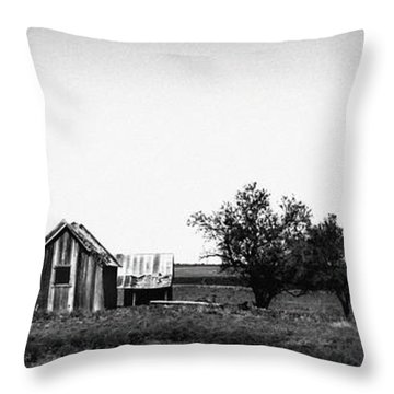 Remnants Of The Dust Bowl Throw Pillow by Lon Casler Bixby