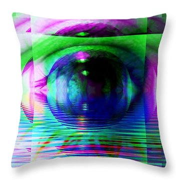 Remote Viewing Throw Pillow by Elizabeth McTaggart