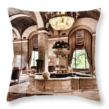 Throw Pillow featuring the photograph Renaissance Cleveland Hotel - 1 by Mark Madere