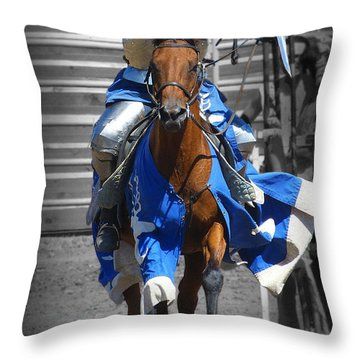 Renaissance Knight Throw Pillow