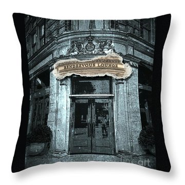 Throw Pillow featuring the photograph Rendezvous Lounge - Lancaster Pa. by Joseph J Stevens