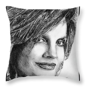Rene Russo In 1999 Throw Pillow by J McCombie