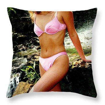 Rene Waterfall Throw Pillow by Gary Gingrich Galleries