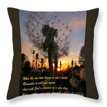 Renewal Throw Pillow by John Malone