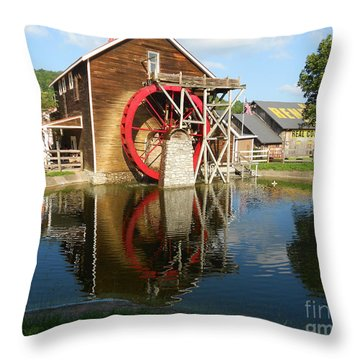 Renfro Valley  Mill Throw Pillow by Mary Carol Story