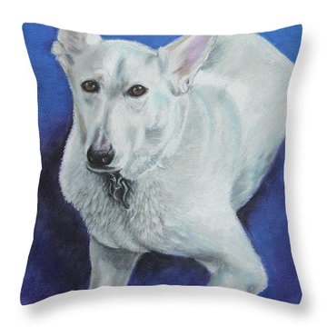 Throw Pillow featuring the painting Reno by Jeanne Fischer