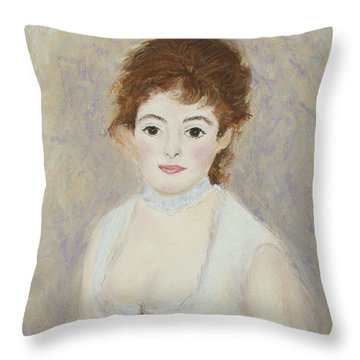 Renoir's Lady Throw Pillow
