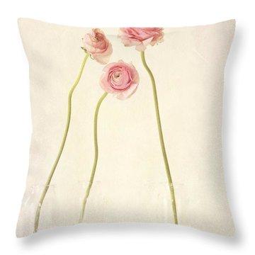 Renoncules Throw Pillow by Priska Wettstein