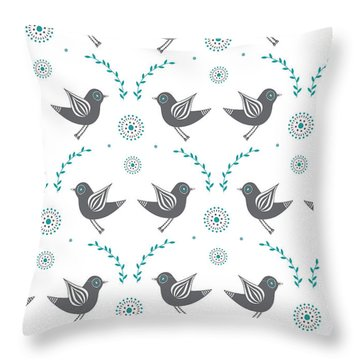 Repeat Lovebird Throw Pillow by Susan Claire