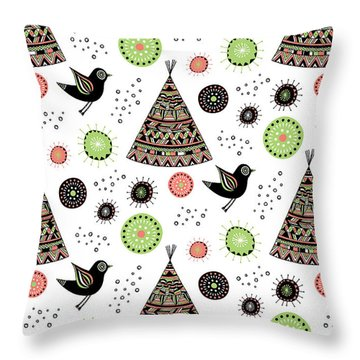 Repeat Print - Wild Night Throw Pillow by Susan Claire