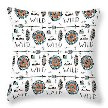 Repeat Print - Wild Throw Pillow by Susan Claire