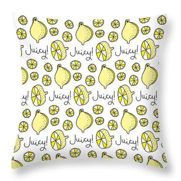 Juicy Fruit Throw Pillows
