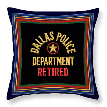Replica D P D Patch - Retired With Epaulette Colors Throw Pillow