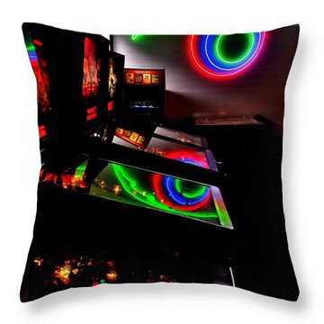 Replicant Arcade Throw Pillow by Benjamin Yeager