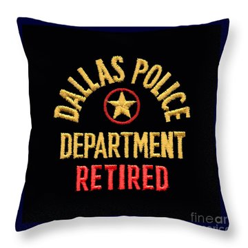 Replica D P D Patch - Retired Throw Pillow