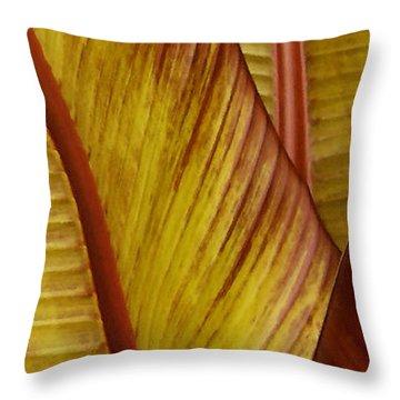 Repose - Leaf Throw Pillow
