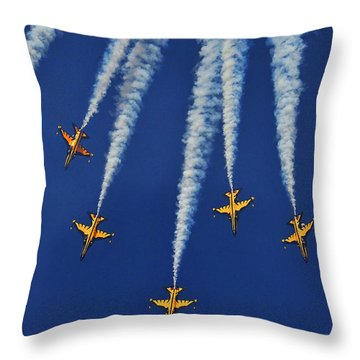 Throw Pillow featuring the photograph Republic Of Korea Air Force Black Eagles by Science Source