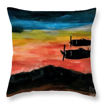 Republic P-47 Thunderbolts Throw Pillow