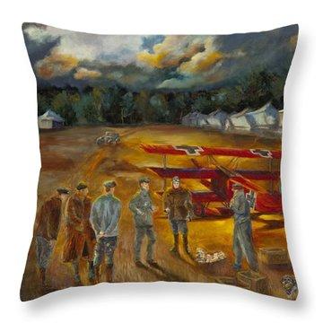 Requiem Of Flight Throw Pillow by Chris Brandley