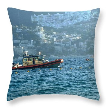Rescue Boat Throw Pillow