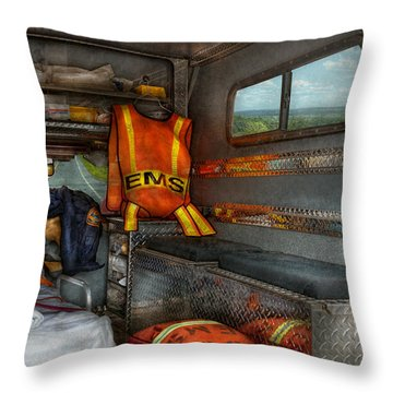 Rescue - Emergency Squad  Throw Pillow by Mike Savad
