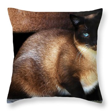 Rescue Me Throw Pillow by Camille Lopez