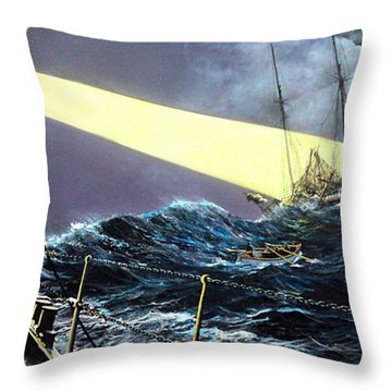 Rescue Of The Helen B.  Sterling 1922 Throw Pillow