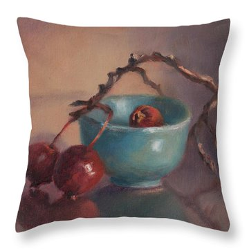 Rescued Throw Pillow by Debbie Lamey-MacDonald