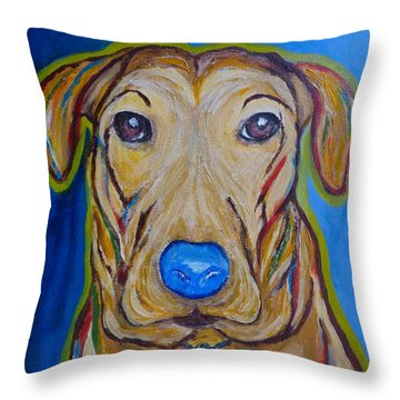 Throw Pillow featuring the painting Rescued by Victoria Lakes