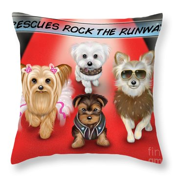 Rescues Rock The Runway Throw Pillow