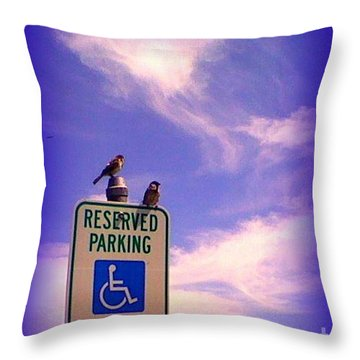Reserved Throw Pillow by Bobbee Rickard