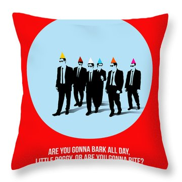 Reservoir Dogs Poster 1 Throw Pillow by Naxart Studio