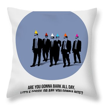 Reservoir Dogs Poster  Throw Pillow by Naxart Studio