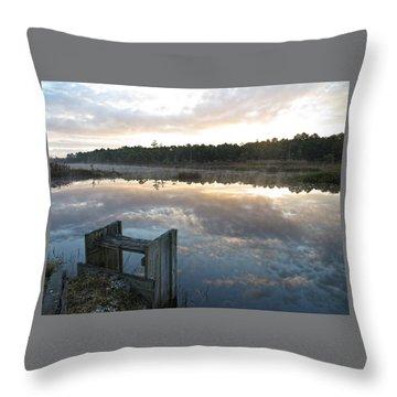 Reservoir Reflections Throw Pillow