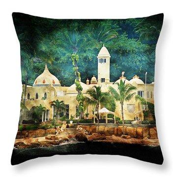Resort Throw Pillow by Athala Carole Bruckner