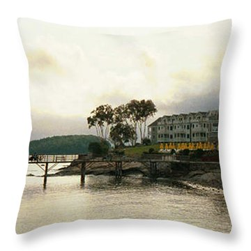 Resort In Bar Harbor Throw Pillow by Judith Morris