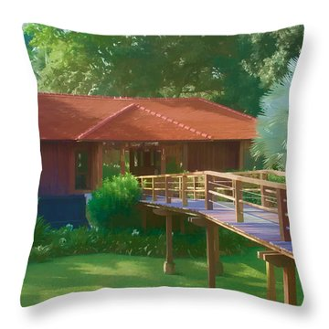 Resort Spa Throw Pillow