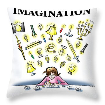 Respect Your Imagination Throw Pillow by Mark Armstrong