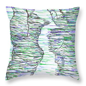 Ressurection Throw Pillow by Gloria Ssali