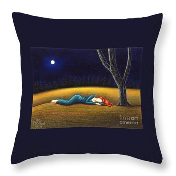 Rest For A Weary Heart Throw Pillow by Danielle R T Haney