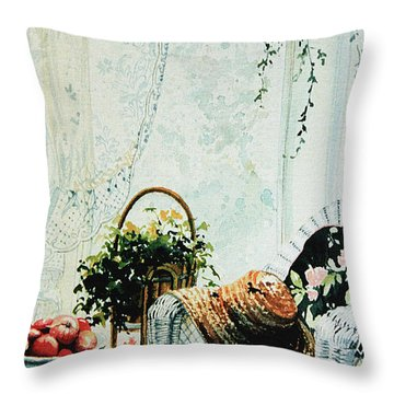 Rest From Garden Chores Throw Pillow by Hanne Lore Koehler