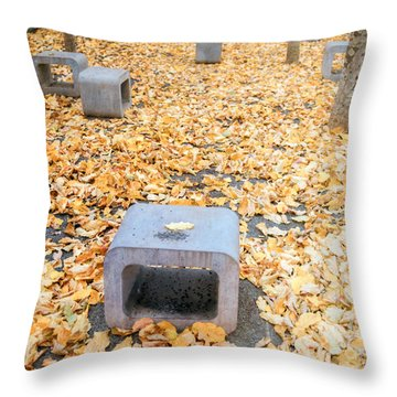 rest in fall IV Throw Pillow by Hannes Cmarits