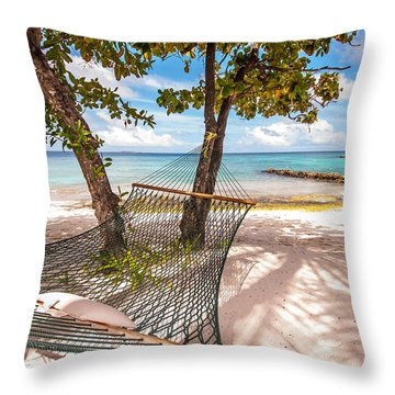 Rest In The Shadow Throw Pillow by Jenny Rainbow