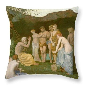 Rest Throw Pillow by Pierre Puvis de Chavannes