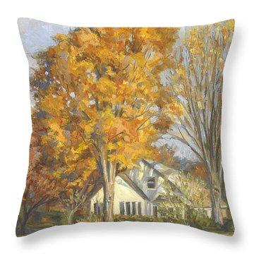 Restful Autumn Throw Pillow