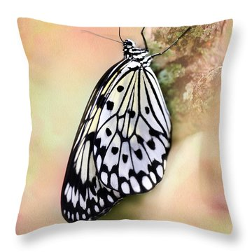 Restful Butterfly Throw Pillow by Sabrina L Ryan