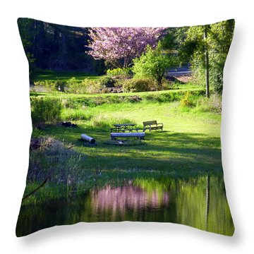 Restful Place Throw Pillow by Lori Seaman