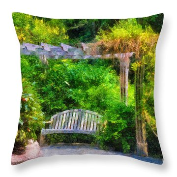 Restful Retreat Throw Pillow by Lois Bryan